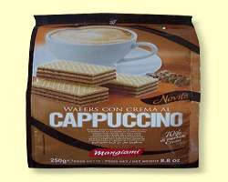 WAFERS CAPPUCCINO BAG - 10 X 250G (MANGIAMI)8010121016370