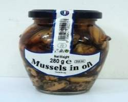 MUSSELS IN OIL JAR (BORRELLI) - 6 X 280G