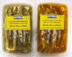 ANCHOVIES SPICED PACK IN OIL (CALABRIATTICA) -  12 X 170GM TRAY - CHILLED B/C-8026512240408