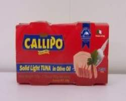 TUNA IN OLIVE OIL (CALLIPO) 2 X 160G X (12 TWIN PACKS) - 24 TINS