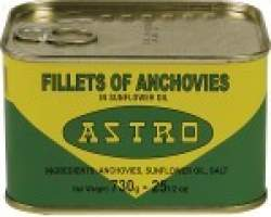 ANCHOVY FILLETS IN OIL (ASTRO) - 12 X 730G TIN