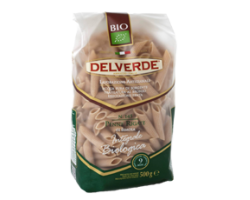 PENNE RIG INTEGRALI BIO PASTA - WHOLEMEAL - ORGANIC NO.145 (DELVERDE) 18X500G (CHILLER 2)
